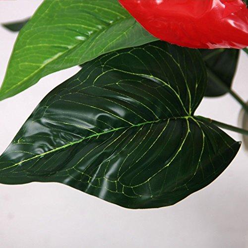 18-Heads-Wedding-Furniture-Decor-Artificial-Anthurium-Flower-Plant-Tree-Foliage