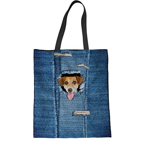 HUGS IDEA Y-C330Z22 - Bolso de tela para mujer, Cat5 (Azul) - Y-C3305Z22 Cat5