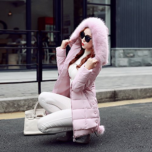 Veste Bigood Manteau Femme Ouat A Epais Blouson Faux de Hiver Doudoune Fourrure Chaud Capuche pq7Txgpwr