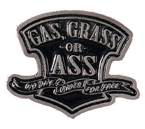 Outlaw Vest - Gas Grass or Ass Jacket Vest OUTLAW MC Biker PIN