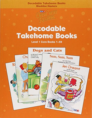 Open Court Reading - Core Decodable Takehome Blackline Masters (Books 1-59 )(1 Workbook of 59 Stories) - Grade 1