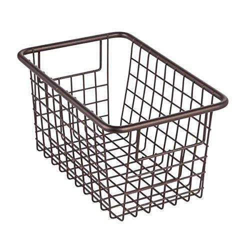 InterDesign Forma Cabinet Binz Storage Basket for Kitchen Pantry or Bathroom Cabinet – Bronze