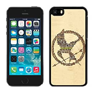 High Quality Case Easy Use Design with The Hunger Games Iphone 5c Phone Case in Black