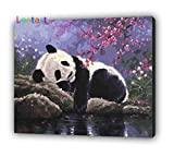 Paint by Number for Adults Kit, DIY Oil Painting 16 by 20-Inch (Panda)