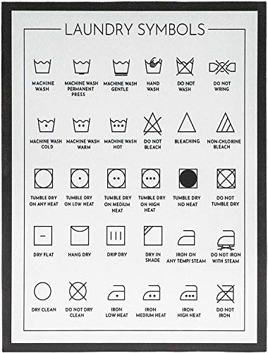 Juvale Laundry Room Symbols Sign, Wall Decor (11.8 x 15.7 Inches)