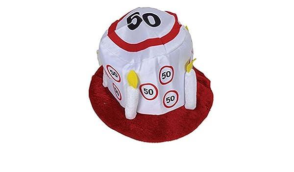erdbeerclown - Sombrero de fiesta cumpleaños tarta con velas ...
