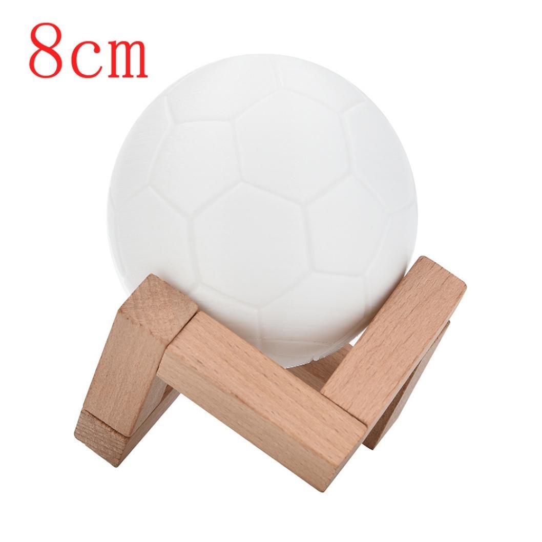 Liping 3d USB Football Touch Night lightwarmホワイトライト、理想の夜ライト、キッズ子供大人用常夜灯、寝室リビングルームベビーNurseryナイトライト、ホームギフトIdea 8CM B07CTF4G5N   8CM