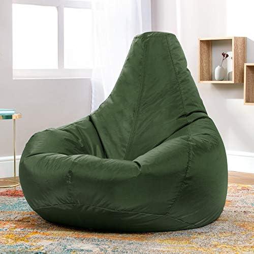 Bean Bag Bazaar Recliner Gaming Bean Bag - 90cm x 73cm, Water Resistant Indoor Outdoor BeanBag Chair, Living Room Gamer Bean Bags (Forest Green)