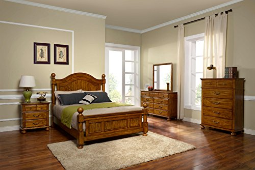 New Classic 00-401-35N Cumberland 5-Piece Bedroom Set Queen Bed, Dresser, Mirror, Two Nightstands