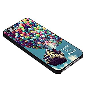 Balloons, Fly High, Flying House for Iphone Case (iPhone 5/5s Black)