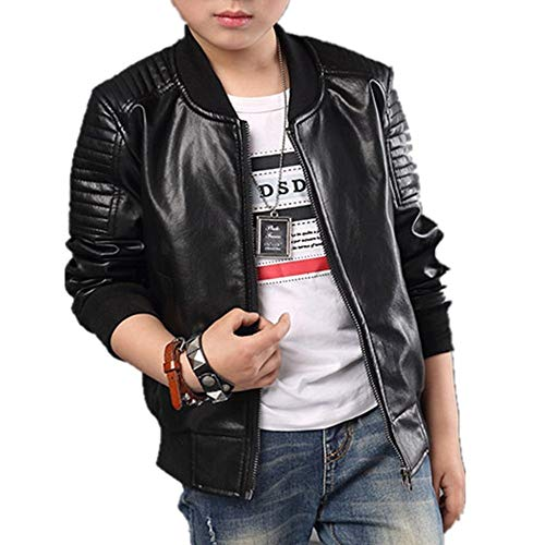 Boys Lightweight Leather Bomber Jackets Collection 4-14 Years (Leather Jacket Boys 8 20)