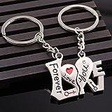 1 Set (2 Pcs/Set) Casual Couple Love Cartoon Lovers Keychain Pendants Teenagers Keys Hook Hooks Keyfob Perfectly Popular Pocket Girls Bag Car Keyrings
