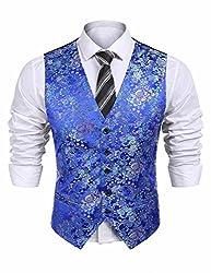 Men's Paisley Embroidery Suit Waistcoat