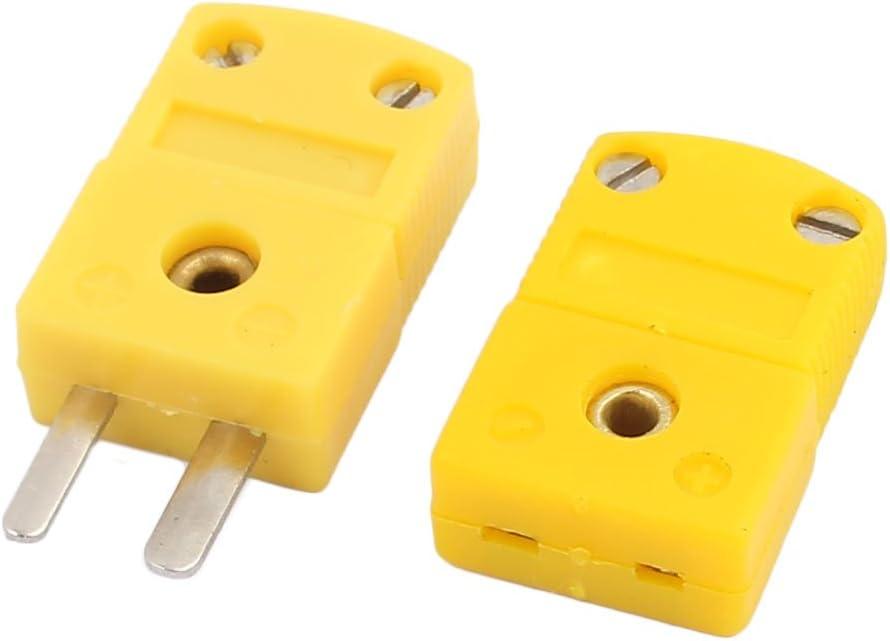 sourcingmap/® 5 Pz giallo verde Custodia in plastica SMPW-K-M termocoppia di tipo K il connettore filo
