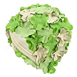 Beemo Latex Swim Cap - Women Stylish Swimming Cap Great For Ladies, Perfect To Keep Hair Dry - Suitable For Long Hair - Flowal Petal Vintage Style - green/white