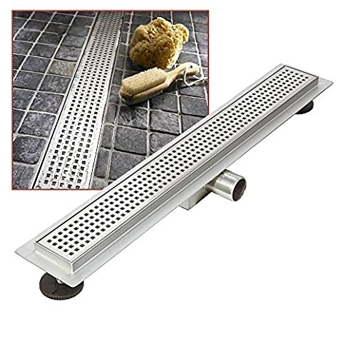 600mm X 70mm Stainless Steel Long Rectangular Wetroom Drainage System   Shower  Drain By Wet Room