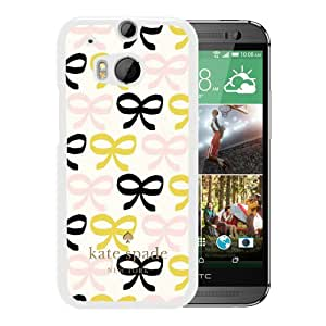 Genuine Kate HTC ONE M8 Case,Kate Spade 222 White Samsung Galaxy HTC ONE M8 Screen Phone Case Art and Lovely Design