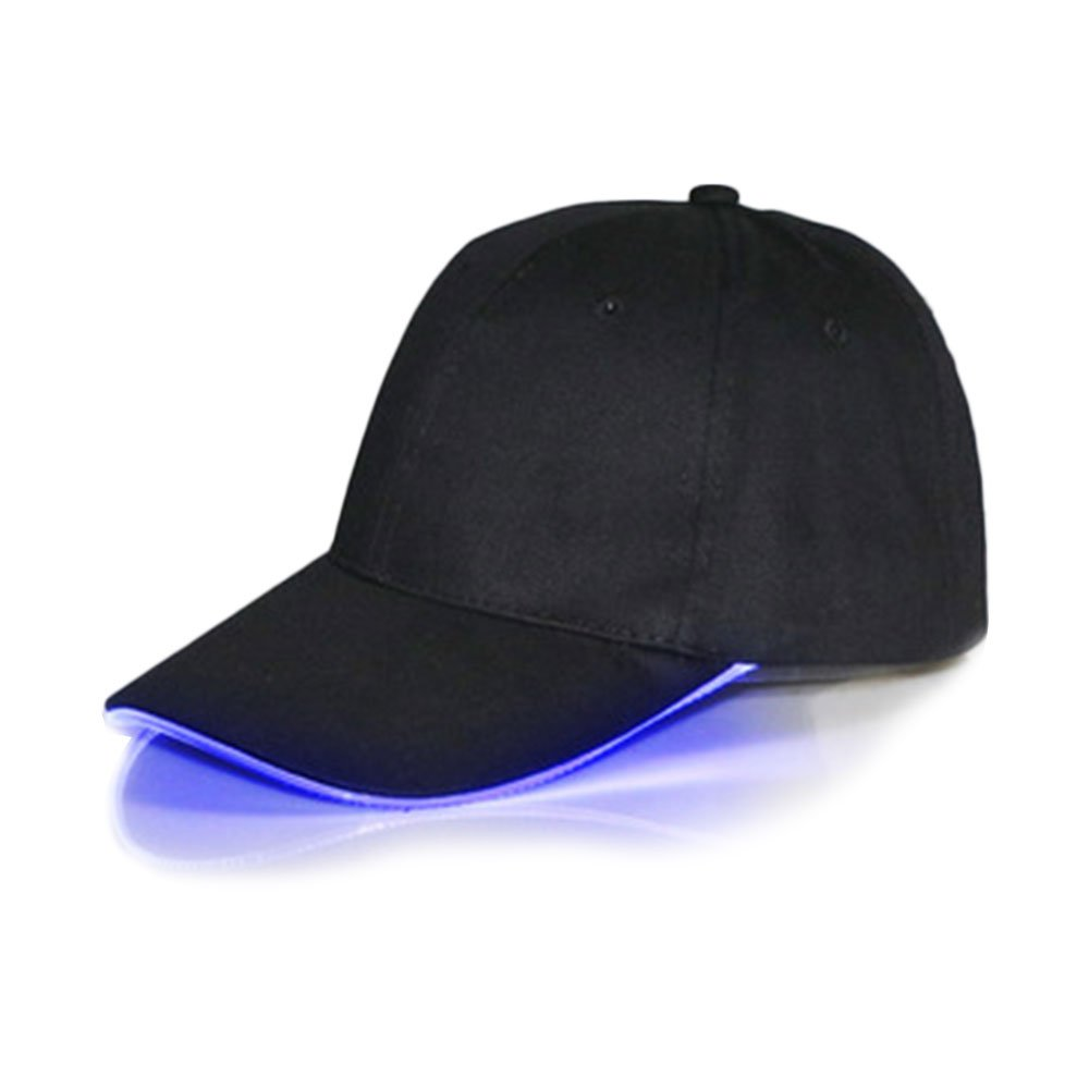 forfar Beautyrain LED Hat Lighted Up Baseball Caps Luminous Club Night Partyl Hip Hop Adjustable Sports
