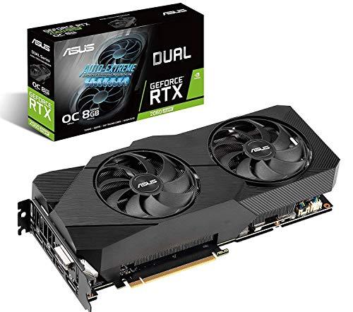 ASUS GeForce RTX 2060 SUPER Overclocked 8G EVO GDDR6 Dual-Fan Edition VR Ready HDMI DisplayPort DVI Graphics Card (DUAL-RTX2060S-O8G-EVO) (Renewed)