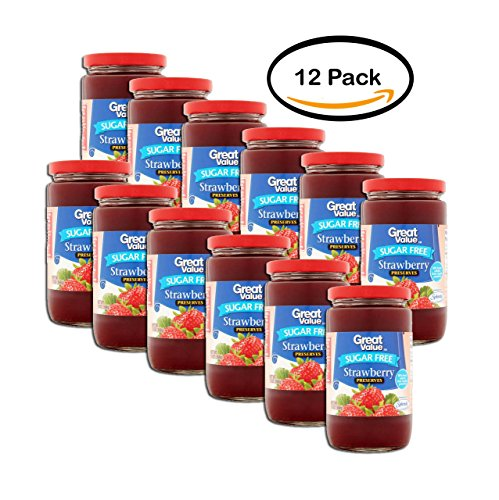 (PACK OF 12 - Great Value Sugar Free Strawberry Preserves, 13)