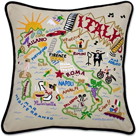 Catstudio Italy Embroidered Decorative Throw Pillow
