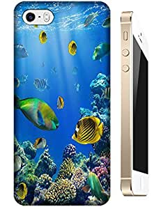 Fishs swimming under the sea colorful cell phone cases design for Apple Accessories iPhone 5/5S