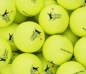 Links Choice Farbige Golfbälle, 12Stück Gelb gelb
