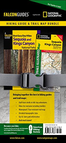 Best Easy Day Hiking Guide and Trail Map Bundle: Sequoia and Kings Canyon National Park (Best Easy Day Hikes Series) (Best Campground In Kings Canyon)