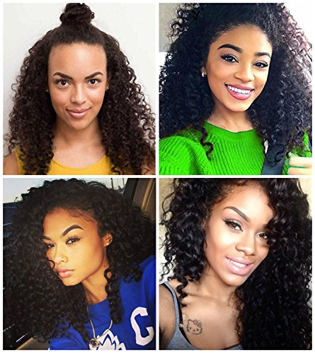 Black Glueless Kinky Curly Synthetic Lace Front Wig 200% Density Heat Resistant Simulation Hair Wigs for - Free Font Vogue