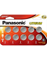 Panasonic CR2032 3.0 Volt Lithium Coin Cell Batteries – 10 Pack
