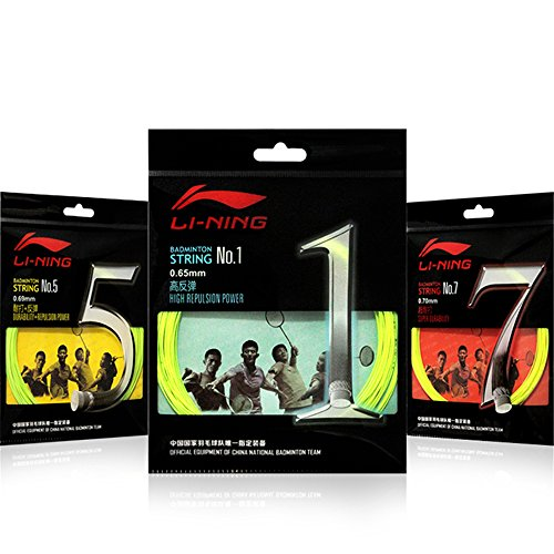3 Packs Li Ning Badminton String NO.1/5/7 China National Team Use 10 Metres ¡­