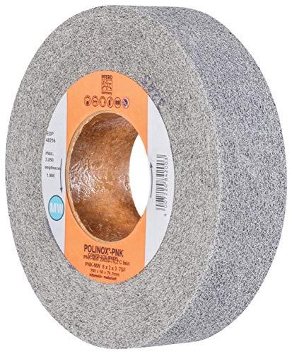 Fine Grit 8 Diameter x 2 Width Silicon Carbide 3 Arbor Hole 3850 Maximum RPM PFERD 48216 POLINOX PNK Non-Woven Abrasive Convolute Wheel