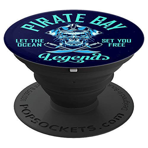 Pirate Captain, Tortuga Island, Caribbean Sea, Jolly Roger - PopSockets Grip and Stand for Phones and Tablets