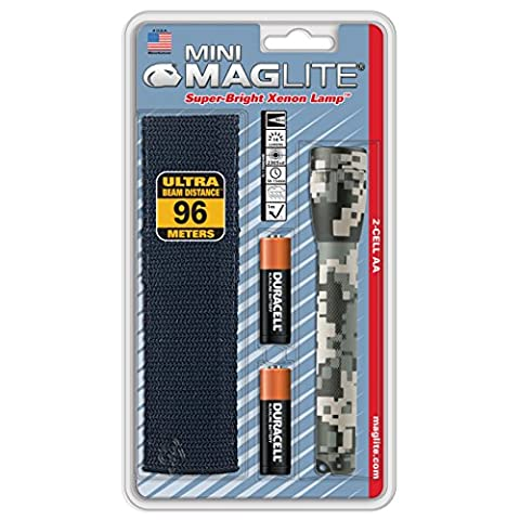 Maglite Mini Incandescent 2-Cell AA Flashlight with Holster Universal Camo Pattern
