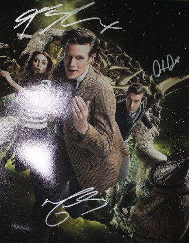 Doctor Who Autographed 11x14 Cast Photo Signed By - Dr Who Signed