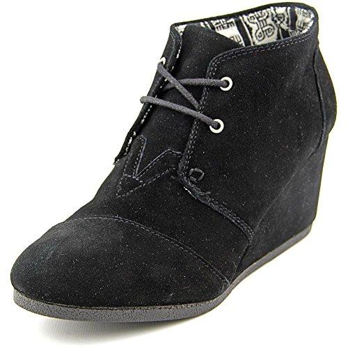 TOMS Women's Desert Wedge Black Casual Shoe 10 Women US (Desert Black Womens Wedges Suede)