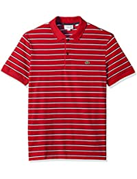 Men's Short Sleeve Striped Mini Pique Regular Fit Polo, PH3150