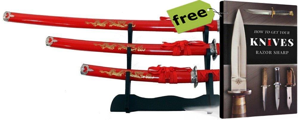 Amazon.com: SURVIVAL STEEL - Juego de 3 símbolos Ninja Red ...