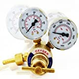 "GHP 0-4000 PSI 2"" Oxygen Oxy Acetylene Welding Welder Brass Pressure Gauge"