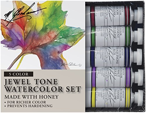 - M. Graham Tube Watercolor Paint Jewel Tone 5-Color Set, 1/2-Ounce