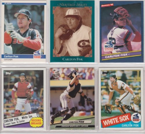Carlton Fisk (6) Card Baseball Lot (Boston) (Chicago) by Unknown