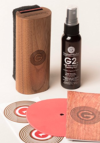 GrooveWasher Walnut Record Cleaning Kit by GrooveWasher
