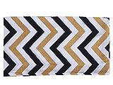 Infinity Scarf Mardi Gras Chevron Poncho Shawl-Linked Moda Spring Summer Winter 2017 new Shawl Cape cover up (Gold Black)