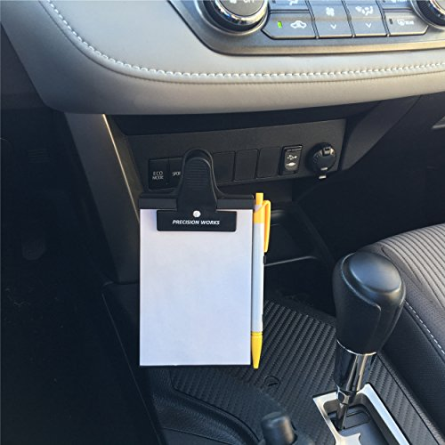 Dashboard memo pad for car windshield or dashboard by precision works notepad holder - Notepad holder for car ...