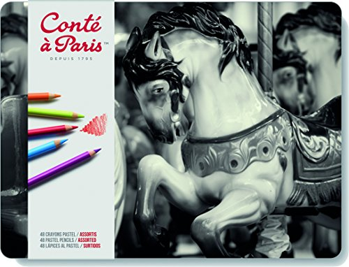 Conté à Paris Pastel Pencils with 48 Assorted (Pastel Pencil)
