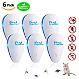 AFBEST Ultrasonic Pest Repeller,Electronic Plug in Pest Repellent with night light for Mice,Mosquitoes, Insects, Bugs, Ants,Rats, Roaches, Rodents,Bugs, Spiders, Other Insects (6 PACK)
