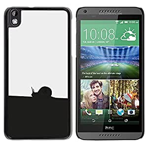 Caucho caso de Shell duro de la cubierta de accesorios de protección BY RAYDREAMMM - HTC DESIRE 816 - Negro Blanco Caracol