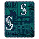 "MLB Seattle Mariners Strength Printed Fleece Throw, Green, 50"" x 60"""