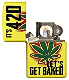 Zippo Let's Get Baked Design Pocket Lighter