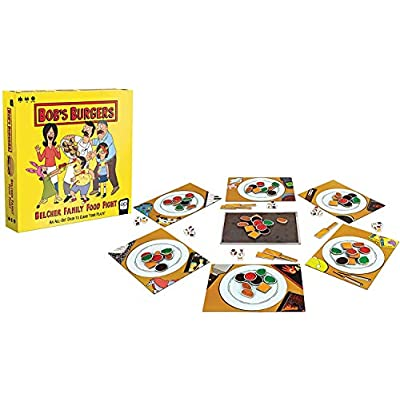 Bob's Burgers: Belcher Family Food Fight Board Game | Fast-Paced Dice Game to Clear Your Plate | Featuring Custom Bobs Burgers Artwork from Fox Animation Studios: Toys & Games